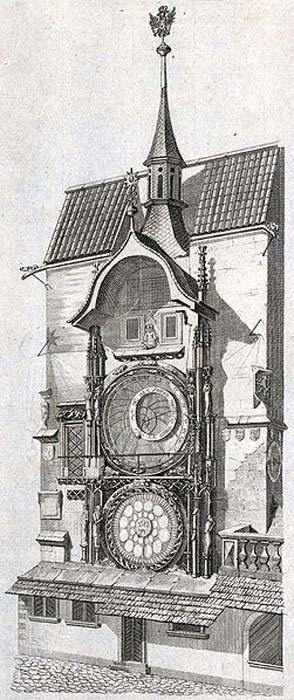 L'horloge astronomique de Prague, v.  1791.