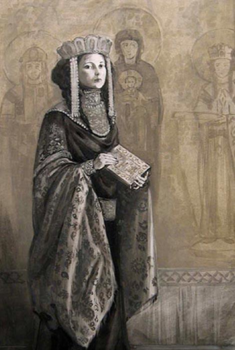 Portrait of the Princess Anna Komnene, unknown artist or date.