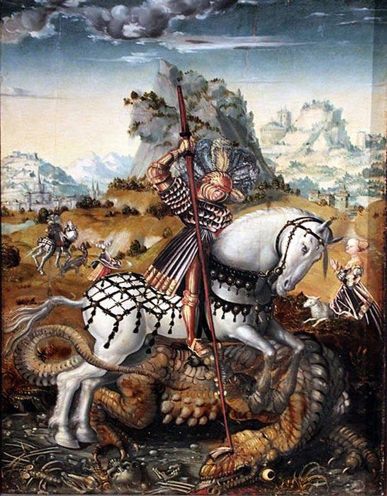 St. George on Horseback, Meister des Döbelner Hochaltars, 1511/13, Hamburger Kunsthalle.