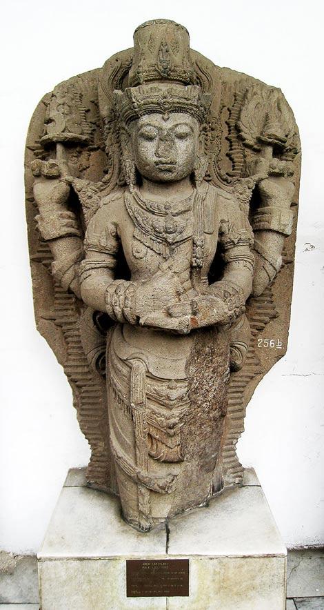 Statue of Vishnu. Kediri, East Java, circa 12th–13th century