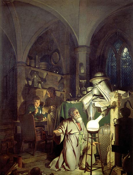 The Alchemist in Search of the Philosophers Stone. (1771) By Joseph Wright of Derby.