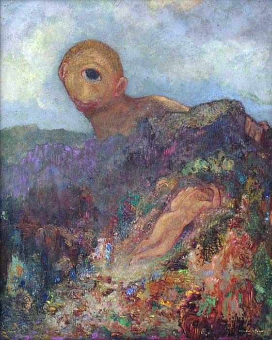 I Ciclopi, Odilon Redon, circa 1.914.