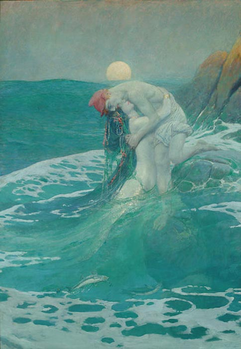 'The Mermaid' (1910) by Howard Pyle. (Public Domain)