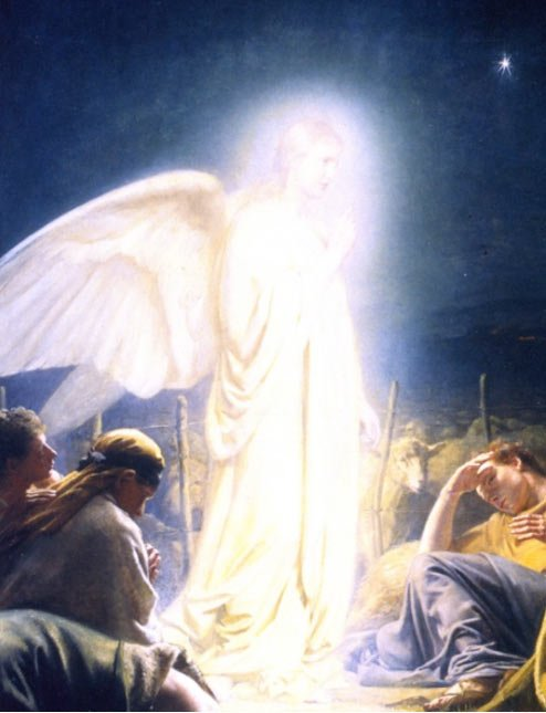 """Chi erano i brillanti? """"I pastori e l'angelo"""" (1879) di Carl Bloch."""