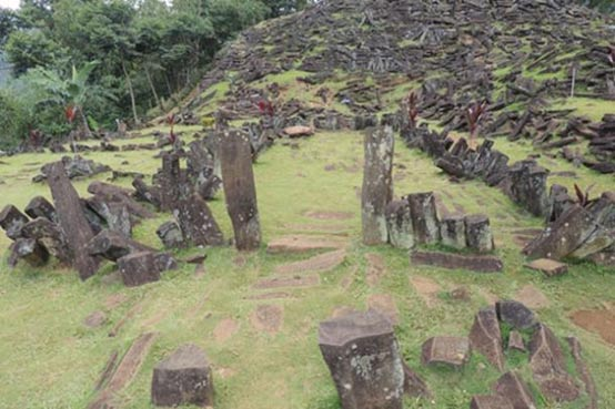 The ancient megalithic site if Gunung Padang
