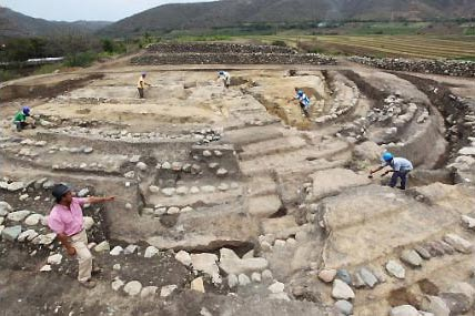 circular huacas jaen 5,500 year old ceremonial center and circular pyramid discovered in Peru