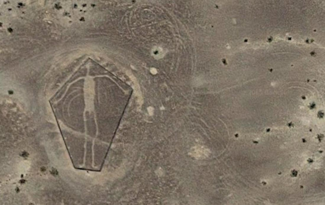 A Blythe Intaglio en el desierto de Colorado.