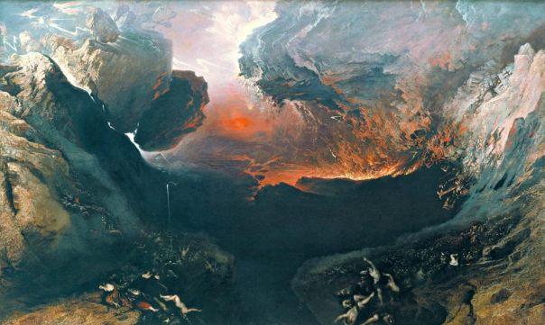El gran día de la ira de Dios (1853), óleo sobre lienzo de John Martin, la Tate Gallery de Londres.