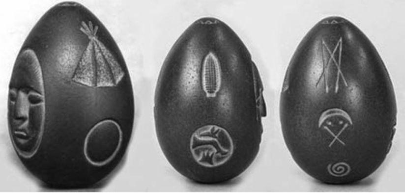 The three faces of the Lake Winnipesaukee Mystery Stone, New Hampshire, USA