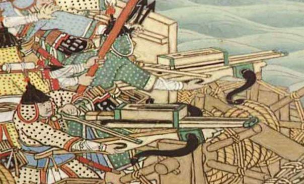 Parte de una Batalla Naval de desplazamiento de la Guerra Imjin.