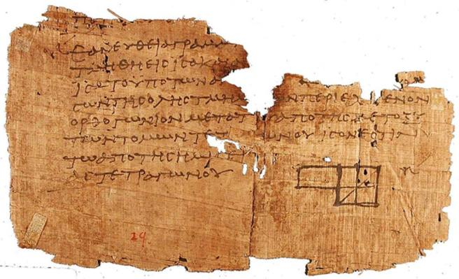Image result for Papyrus Ancient Roman Dinner Invitation