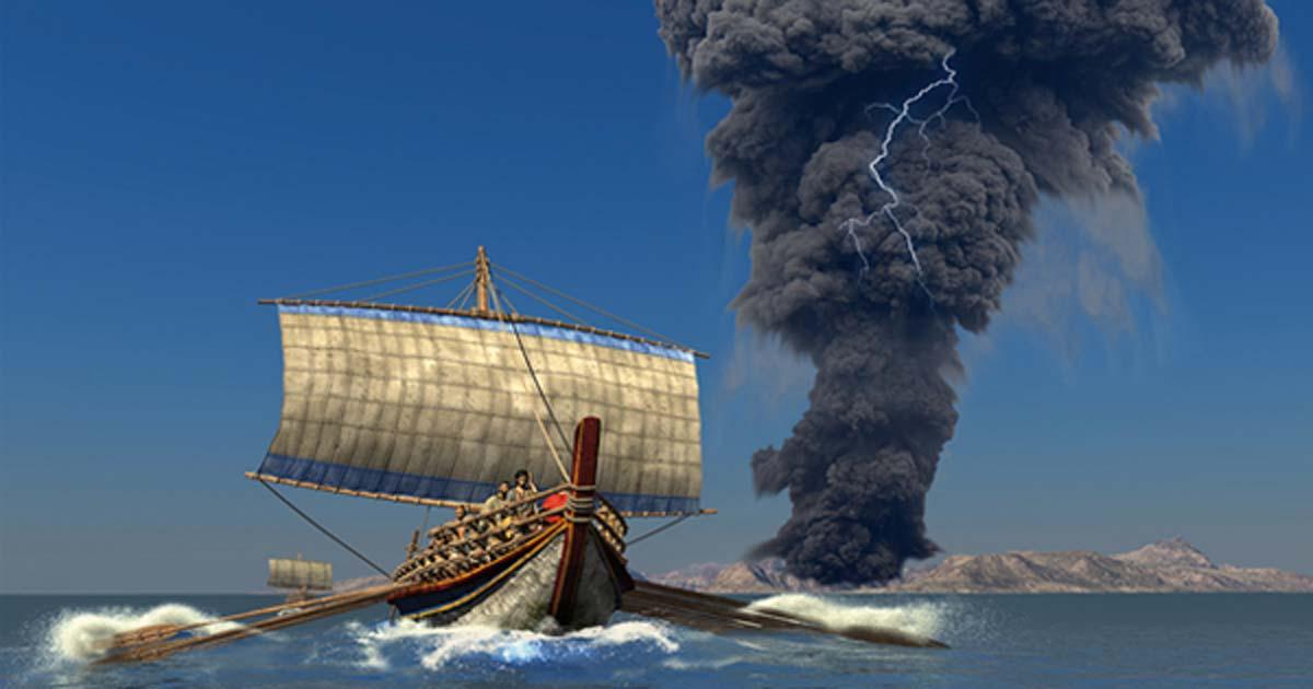 Risultati immagini per eruption santorini