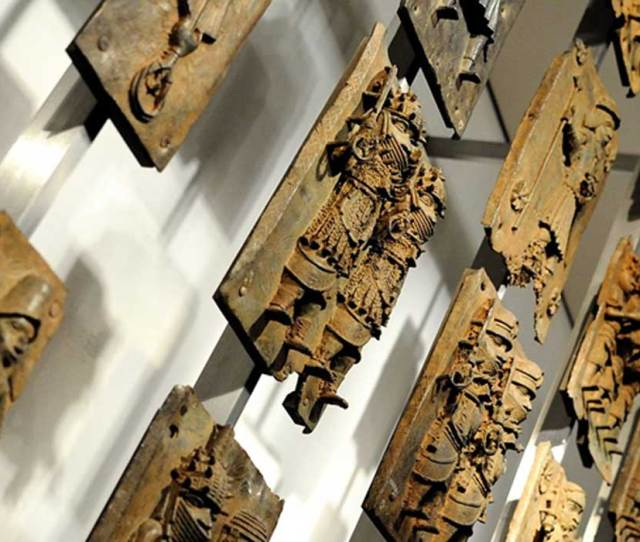 A Display Of The Benin Bronzes In The British Museum