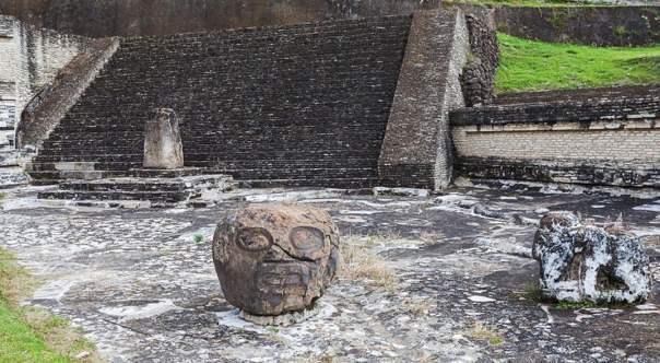 Una sección de las ruinas de la Gran Pirámide de Cholula, Puebla, México