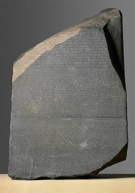 La pierre de Rosette.  (Administrateurs du British Museum / CC BY NC SA 4.0)
