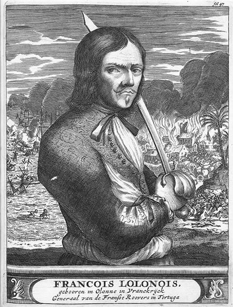 François l'Olonnais: Le célèbre pirate de France qui avait soif de sang et qui a été mangé par les cannibales à la fin.  (Domaine public)