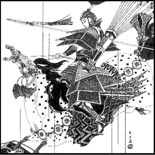 Mulan au combat.