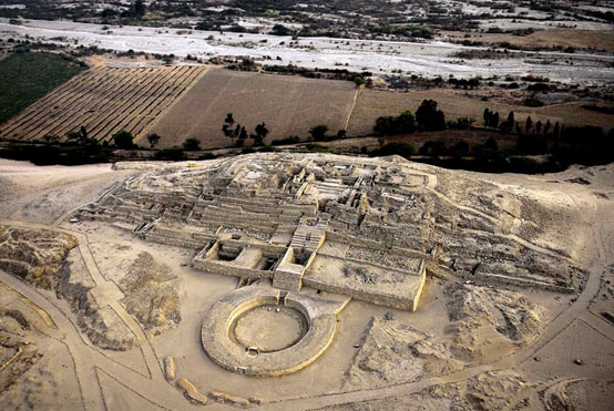 The remains of the Sacred City of Caral, Peru