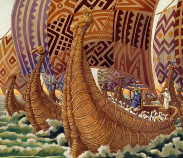 Abu Bakr montar en sus naves.