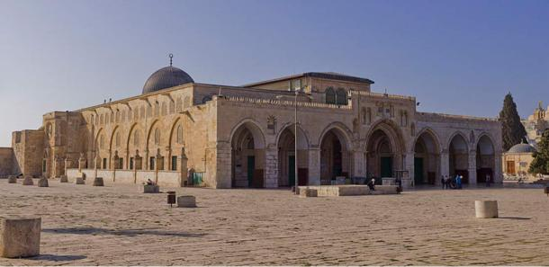 Northeast exposure of Al-Aqsa Mosque on the Temple Mount, in the Old City of Jerusalem, Israel.