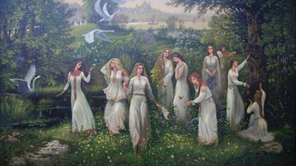 Una rappresentazione artistica delle donne iperboree.