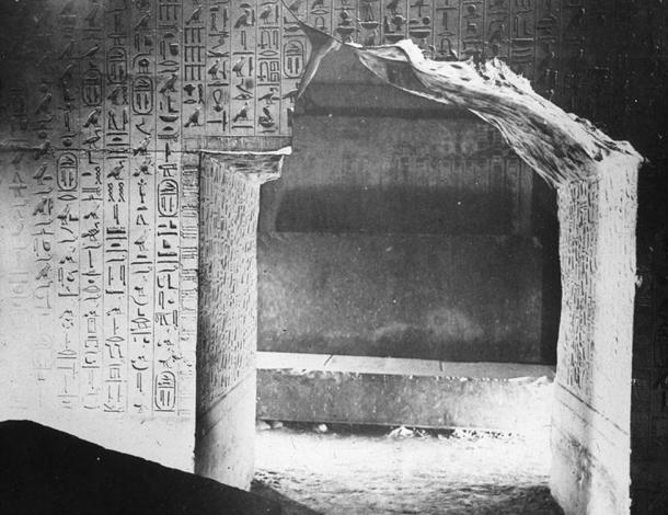 Hieroglyphs frequently adorn temple and tomb walls. Burial Chamber. Pyramid of Unas. 5th Dyn. Sakkara