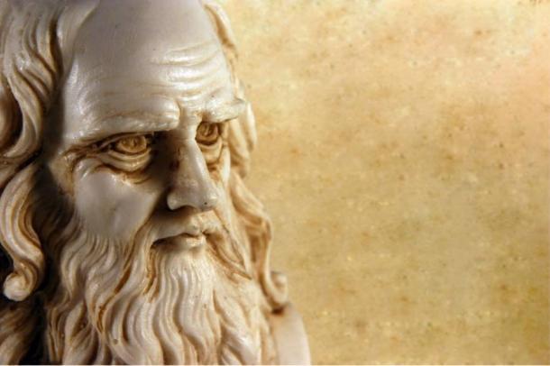 Busto di Leonardo da Vinci in età avanzata