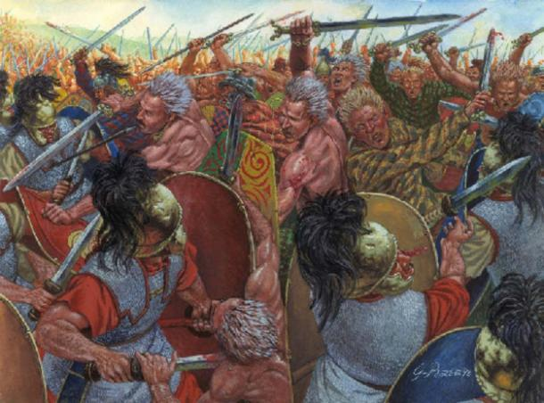 Celts fighting Romans.