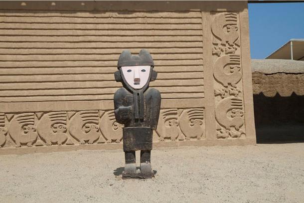 Scultura Chan Chan e architettura.