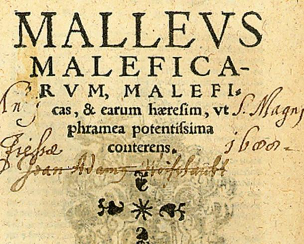 Cover of the seventh Cologne edition of the Malleus Maleficarum, 1520.