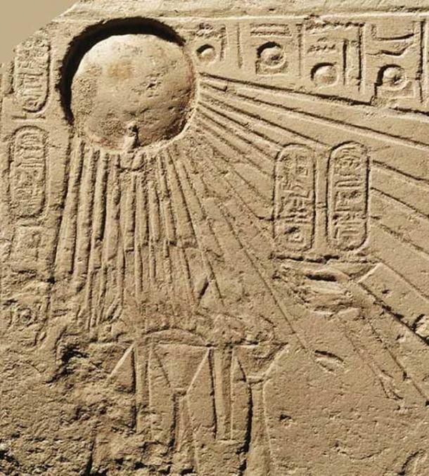 Il simbolo Aten egiziano che possono in origine hanno raffigurato la magnifica cometa del 1486 aC.