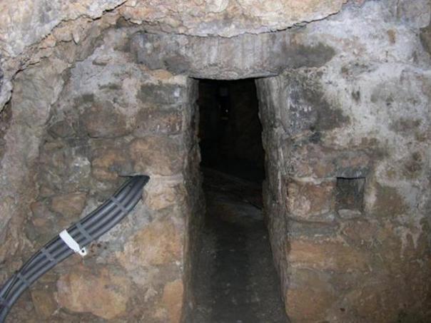 La entrada del túnel.