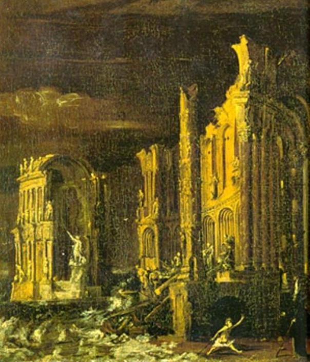 La caída de la Atlántida, Monsu Desiderio