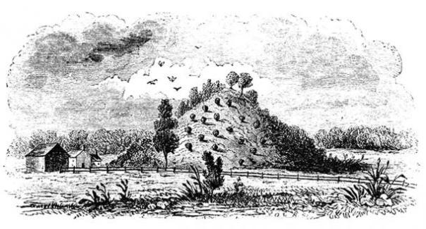 Figura 10: Vieja ilustración de Miamisburg Montículo.