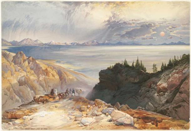 Велике Солоне озеро штату Юта, США.  1875 рік.