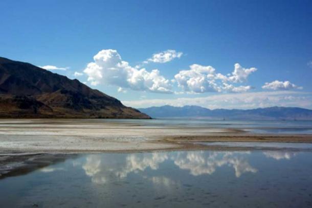 Велике Солоне озеро, штат Юта.
