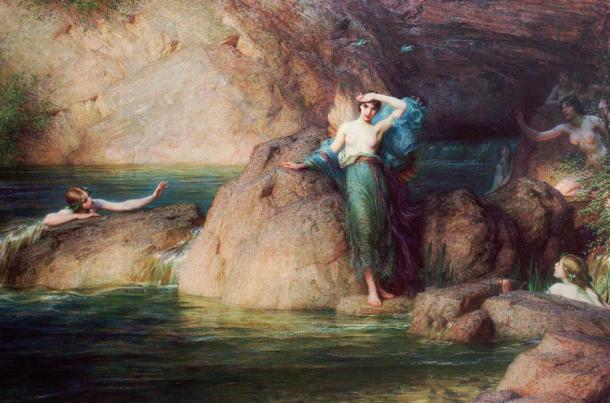'Halcyone' by Herbert James Draper, 1915.