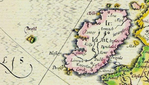 Hy-Brasil on a map from 1325