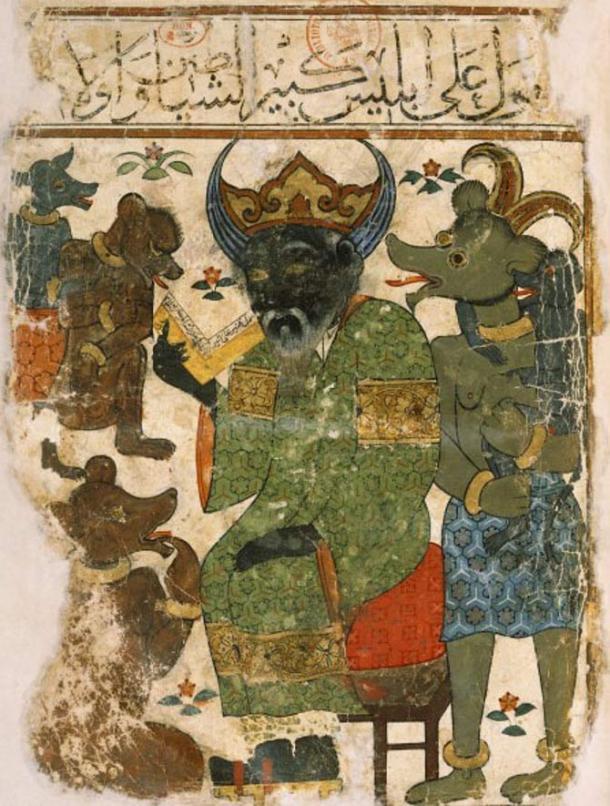 Illustration d'Iblis mieux connue sous le nom de Diable.