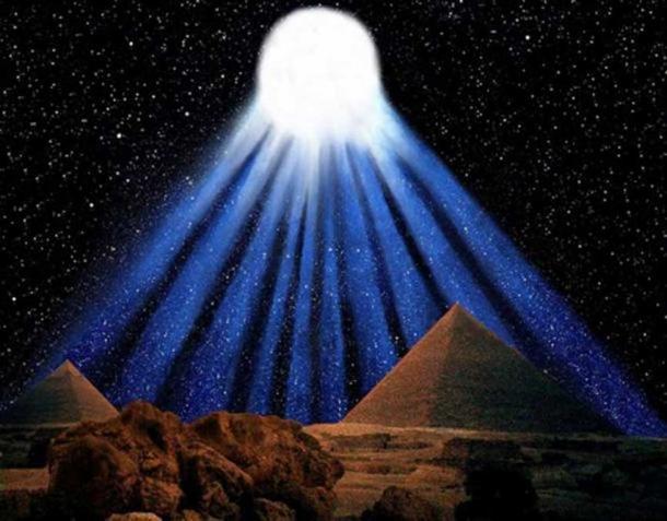 Impressione della spettacolare cometa a dieci code registrata dagli antichi egizi nel 1486 aC. (Illustrazione di Graham Phillips)