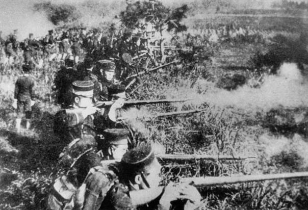 las tropas japonesas durante la guerra chino-japonesa.