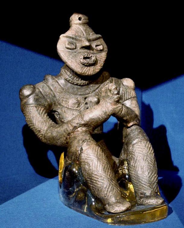 Jomon statua di creta, Kazahari io, Aomori Prefecture. Periodo Tardo (1500 - 1000 aC).