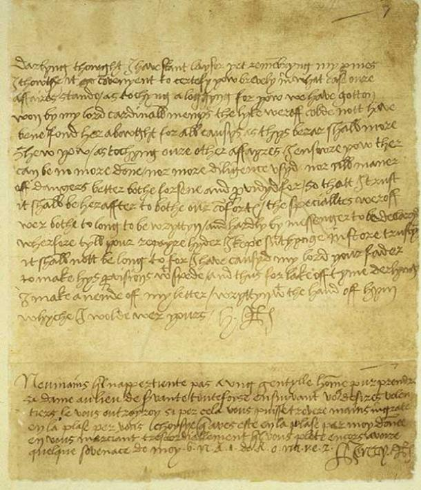 A letter from King Henry VIII to Anne Boleyn, held in the Vatican archive