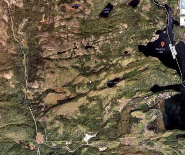 Magnetic Lago, Bosque Nacional Superior, Minnesota, y rodea.