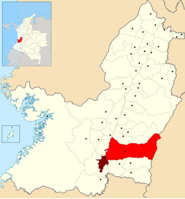 Malagana is located in the Colombian municipality of Palmira, Valle del Cauca.