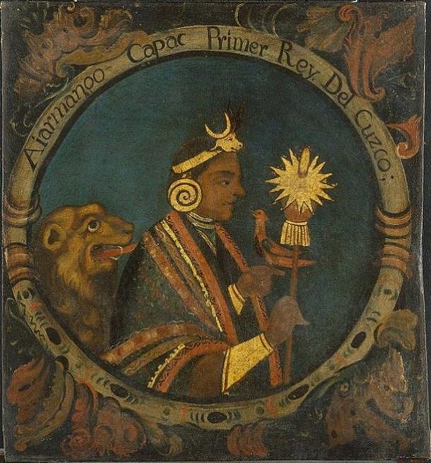 Pintura de Manco Cápac. Creado entre 1750-1800.