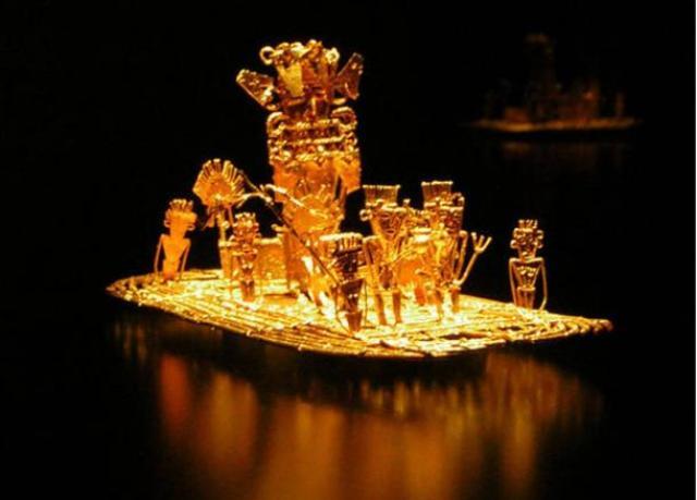 Muisca raft - La búsqueda de El Dorado - Lost City of Gold