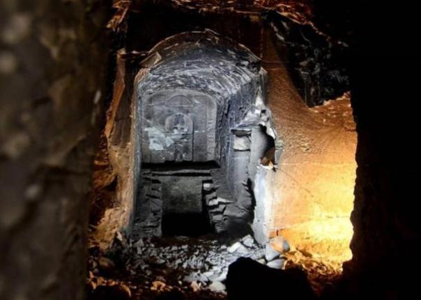 Mítica tumba de Osiris, dios de los muertos, en Egipto