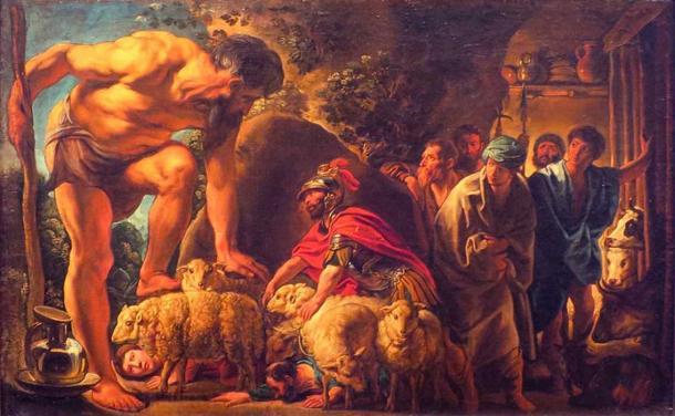 Ulisse nella Grotta di Polifemo, Jacob Jordaens.