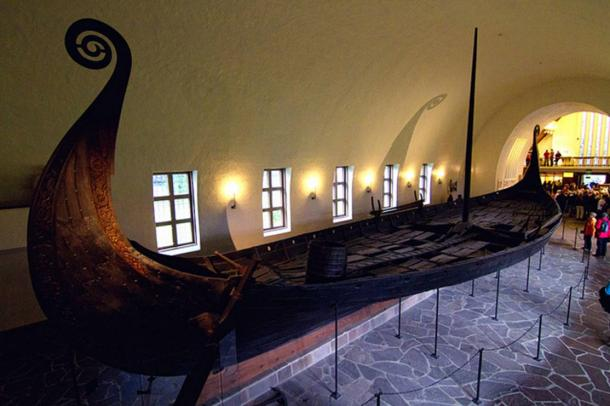The Oseberg Ship in the Viking Ship Museum, Norway.